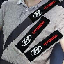2 шт. Накладка для ремня безопасности автомобиля протектор для комтранс логотип IX35 IX25 EV Elantra Verna/Hyundai Sonata Santafe Solaris Azera Creta Tucson Авто