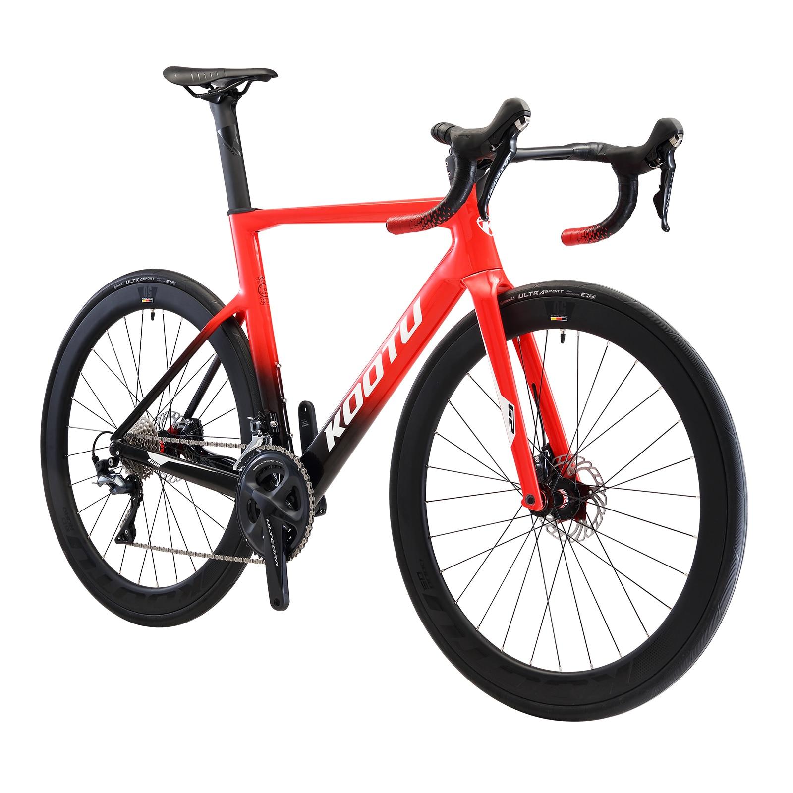 KOOTU T800 Carbon Fiber Road Bike Race Gravel Bike 22speed Shimano R8020 Disc Brake Racing Bike 8.8 kg Carbon Bicycle