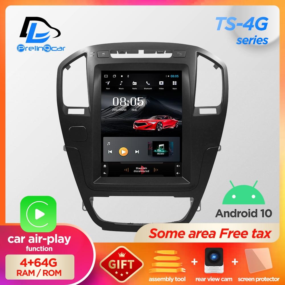 Вертикальный экран, система android 10,0, Автомобильный gps мультимедийный видеопроигрыватель с радио в тире для opel insignia, автомобильная навигация,...