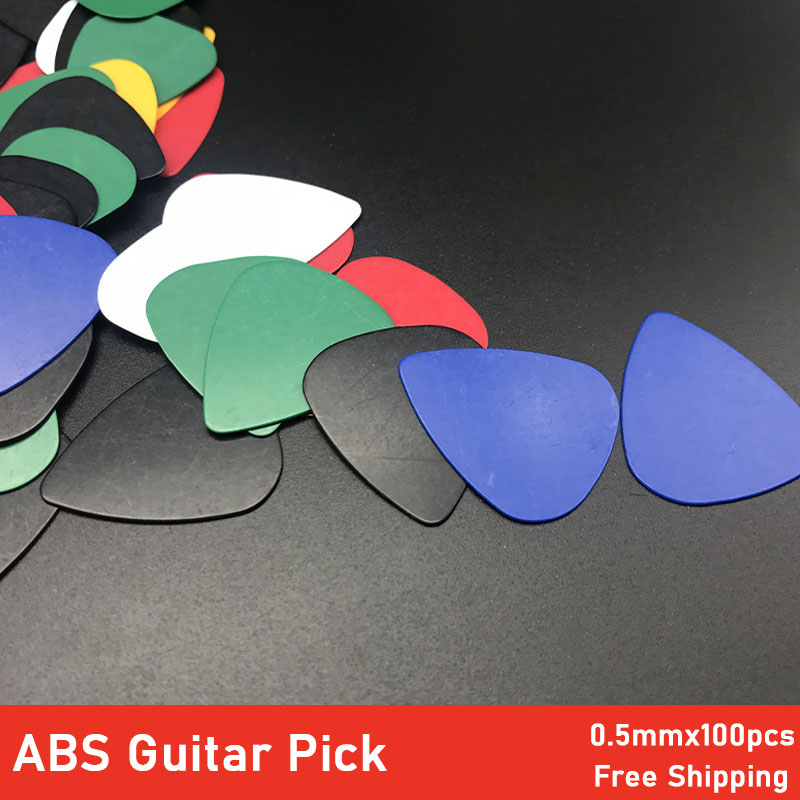 100Pcs Heart Shape ABS Guitar Pick 0.5mm Acoustic Electric Bass Gutiar Pick Plectrum Guitarra Musical Instrument
