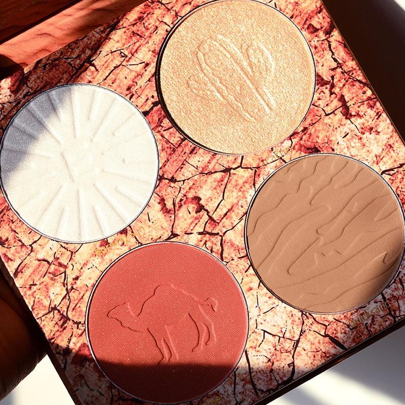 matte profissional blush paleta
