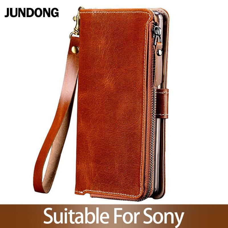 Pour Sony Xperia XZ1XZ2 XZ3 XZ4 XA2 XA3 L3 Compact Xz Z5 Premium étui multifonction portefeuille téléphone sac haute qualité sac à main