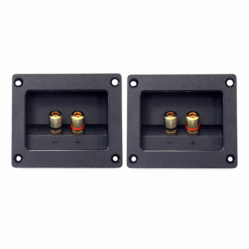 2pcs DIY Home Car Stereo 2-way Speaker Box Terminal Round Square Spring Cup Connector Binding Post Banana Jack And Plugs Subwoof