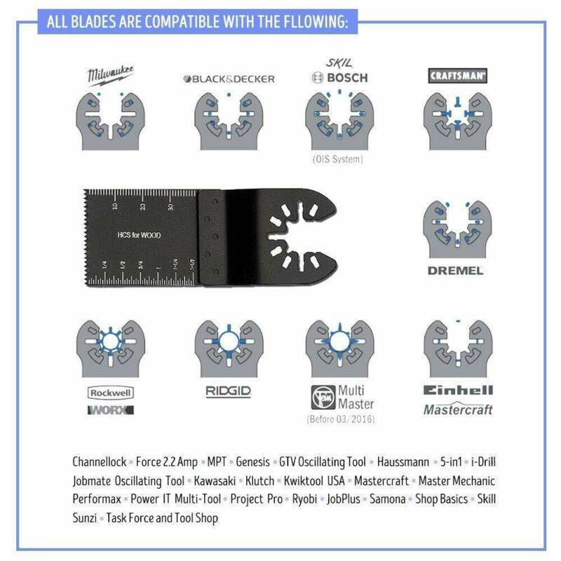 50pcs Universal 34mm Oscillating Multi Tool Saw Discs Cutter For RIDGID Cutting