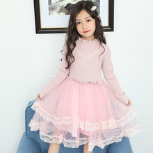 Girls Dress Autumn Winter Knitted Sweater Princess Dress Kids Christmas Dresses For Girls Children Clothes 4 6 8 10 11 12 Years kids dresses for girls sweaters 2017 new autumn cotton sweater dress for girls clothing school kids clothes 10 11 12 13 14 years