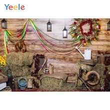 цена Yeele Christmas Photocall Old Chalet Wreath Decor Photography Backdrops Personalized Photographic Backgrounds For Photo Studio