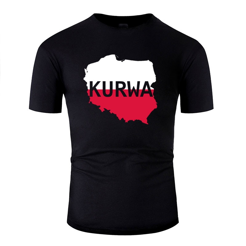 Slogan Kurwa Poland Polish Polska Tshirt Men Hilarious Men And Women T-Shirts O-Neck Gents
