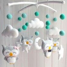 Chocalhos do bebê criança móvel girando, musical, brinquedos, recém nascido, berço, cama, mãe grávida, diy, feito a mão, material do desenho animal