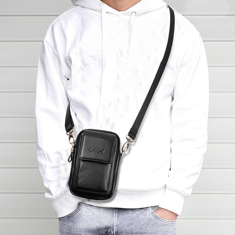 Мужская сумка Кроссбоди Cobbler Legend, черная Повседневная деловая сумка из натуральной кожи для телефона Сумки-кроссбоди      АлиЭкспресс