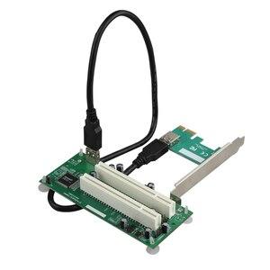 Image 3 - PCI express への PCI アダプタカードの Pcie デュアル Pci スロット拡張カードの Usb 3.0 に追加カードコンバータ TXB024