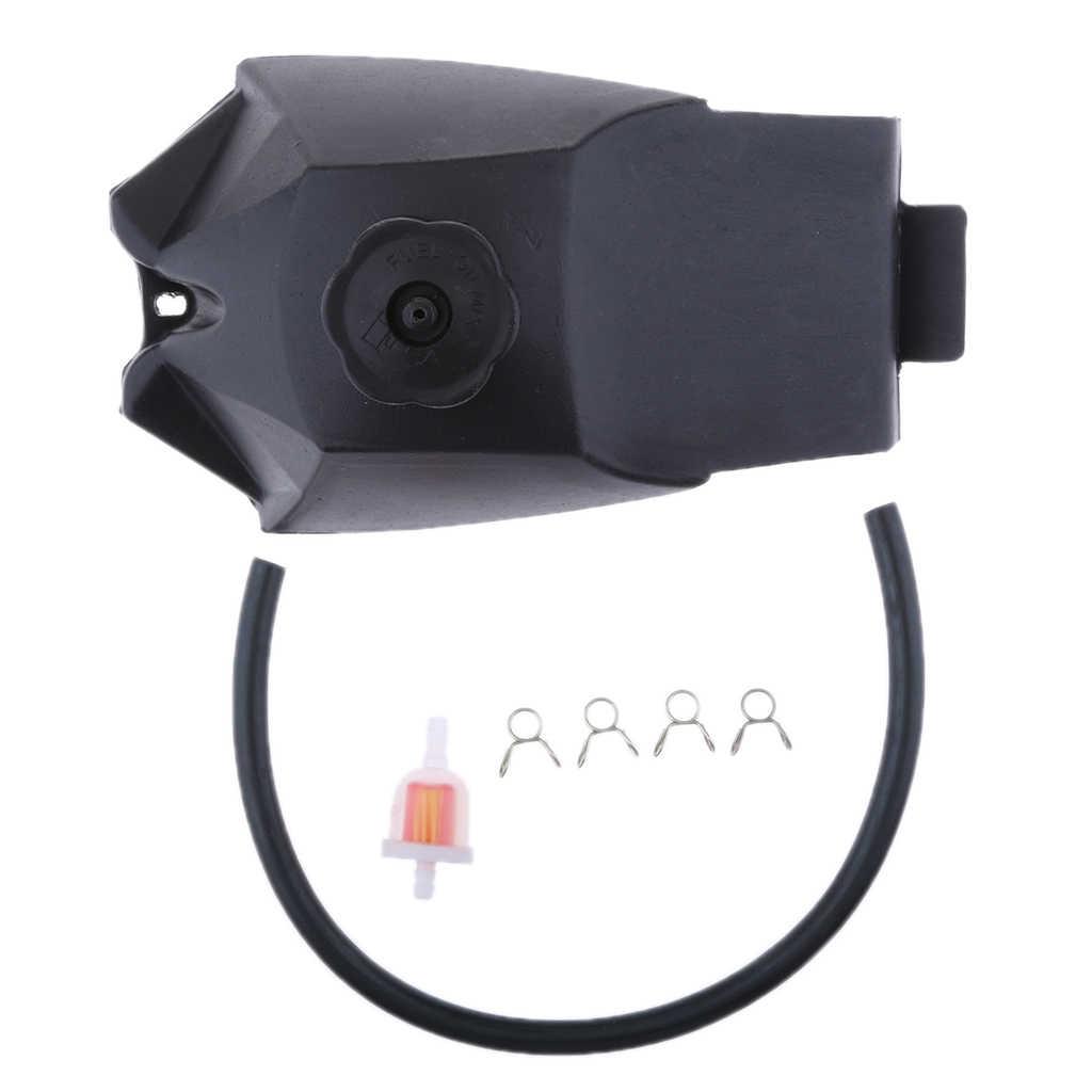 Gas Bahan Bakar Bensin Tangki + Filter + Pipa untuk 49CC ATV Quad Sepeda Motor Trail Kereta Mini Sepeda Motor
