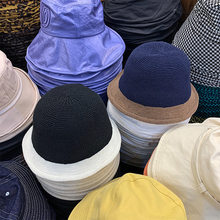202007-XX265 autumn wool blended Knitting Color stitching leisure lady bucket cap men women fishermen hat(China)
