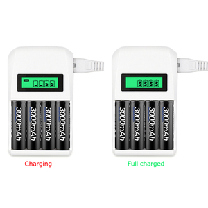 Image 3 - Palo Batterij Oplader 4 Slots Lcd scherm Intelligente Lader Voor Batterij Aa/Aaa Ni Cd Ni Mh Oplaadbare Batterijen