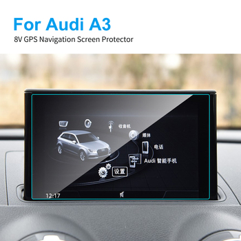 Car GPS Navigation Screen Protector for Audi A3 8V HD Clear Car Display Screen Tempered Glass Protective Film Auto Accessories image