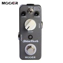Mooer ShimVerb الرقمية عكس تأثير الغيتار دواسة صغيرة الغيتار دواسة 3 طرق ريفير ل الغيتار الكهربائي صحيح تجاوز الغيتار أجزاء