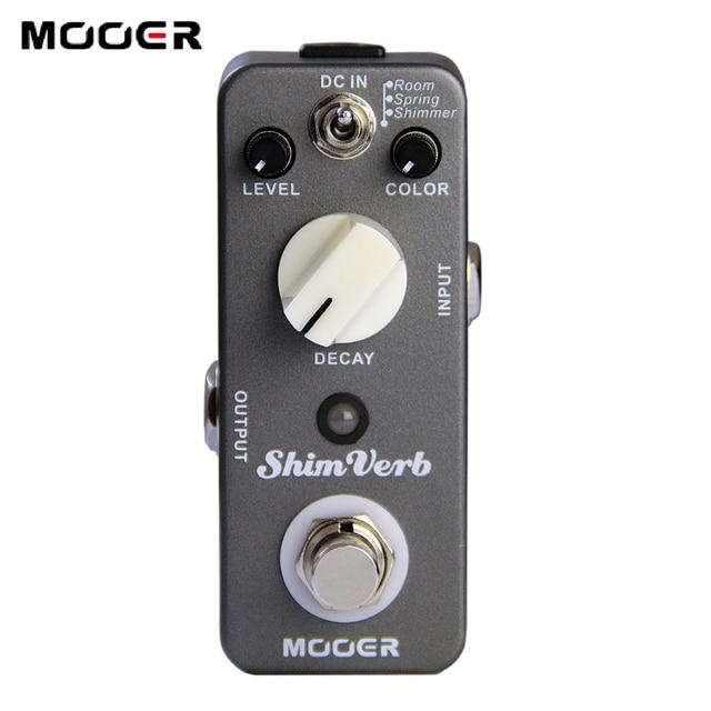 Mooer ShimVerb Digital Reverb Guitar Effect Pedal Mini Guitar Pedal 3 Reverb Modes for Electric Guitar True Bypass Guitar Parts