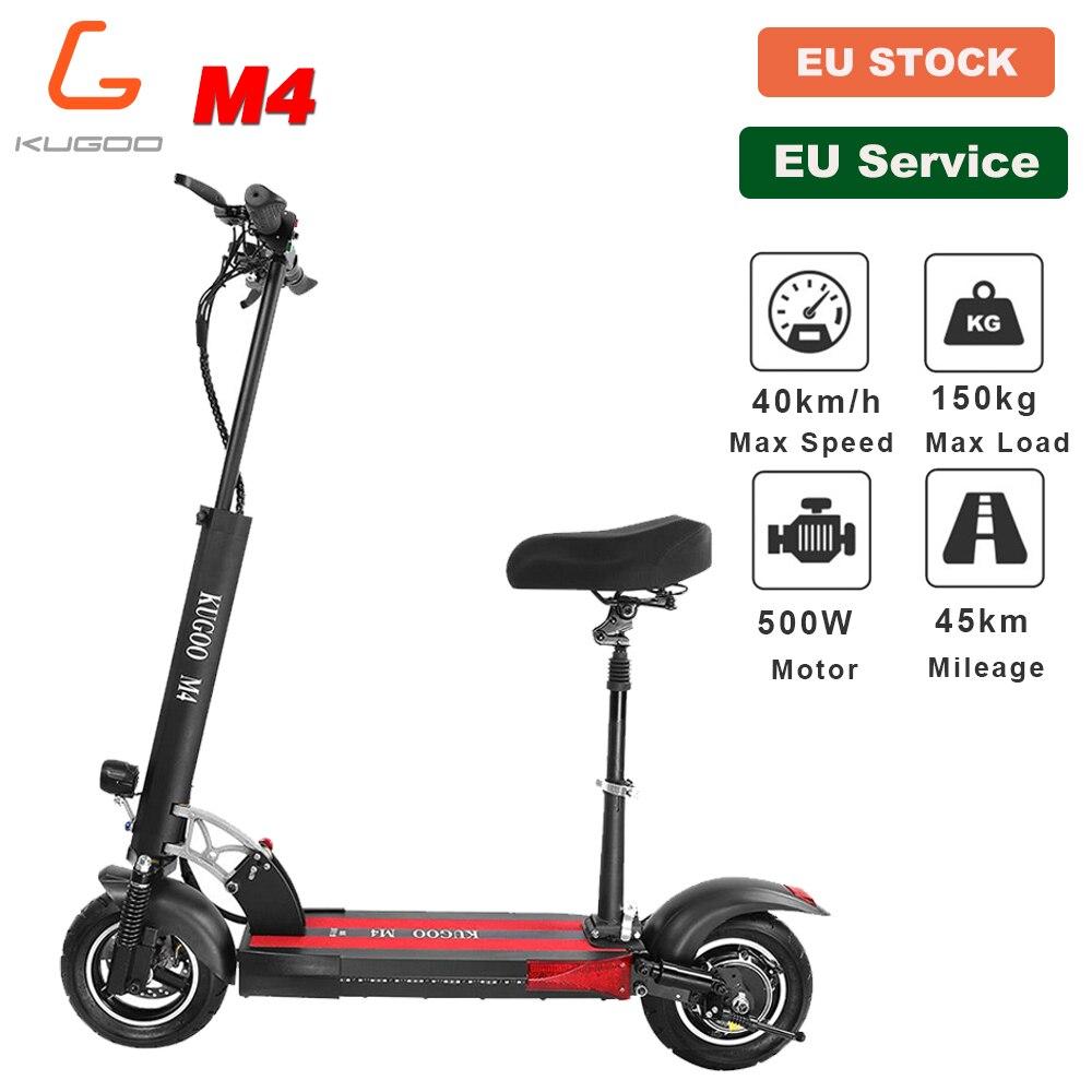 [Estoque da ue] kugoo m4 dobrável scooter elétrico adulto 10 polegadas pneu de vácuo 500 w 45 km 40 km/h e scooter freio a disco para xiaomi m365