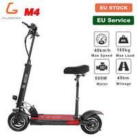 [Stock Europeo] KUGOO M4 Scooter Eléctrico plegable para adultos de 10 pulgadas, neumático de vacío de 500W 45KM 40 KM/H, freno de disco para Scooter e para Xiaomi M365