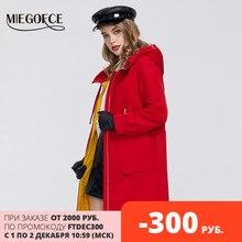 MIEGOFCE 2020 nowa wiosna wiatroszczelna projektant kobiet wykop ciepły bawełniany płaszcz wiosenna kurtka przeciwwiatrowa z odpornym kołnierzem ze stylowym