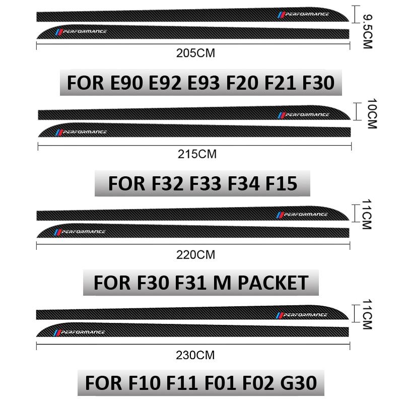 cheapest For Volkswagen Golf 7 MK7 Car Door Side Skirt Strips Sticker Black Carbon Fiber Clubsport Styling Auto Body Decor Vinyl Decal