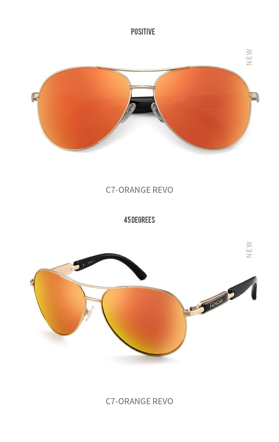 H2990cc756dec448dabe893e0f384f943m FENCHI Polarized Sunglasses Women Vintage Brand Glasses Driving Pilot Pink Mirror sunglasses Men ladies oculos de sol feminino