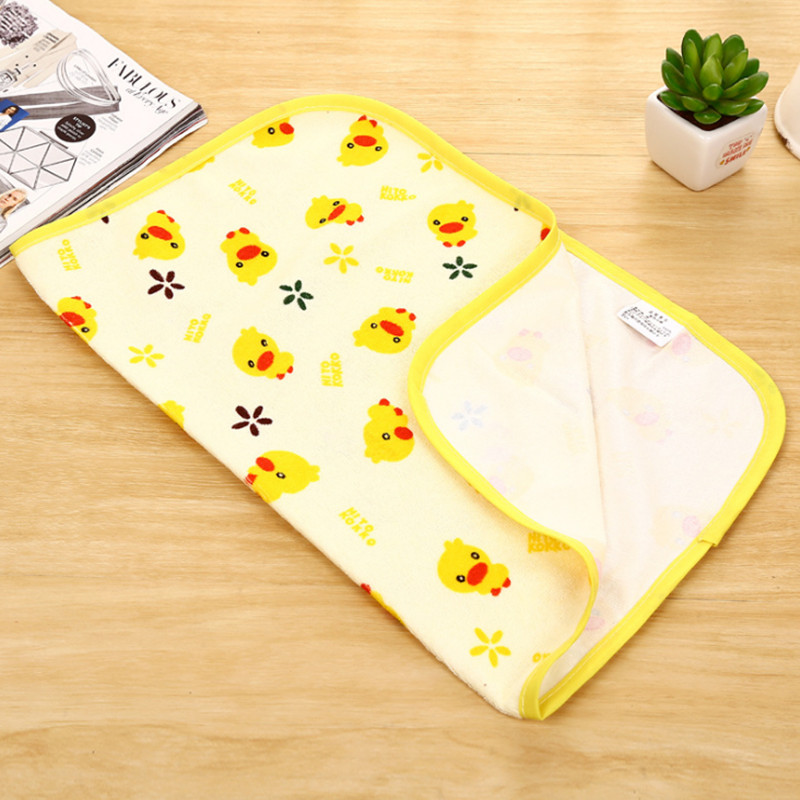 Yellow Duck Baby Waterproof Urine Pad Mat Infant Changing Pad And Cover Cotton Washable Waterproof Bed Sheet Pad