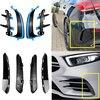 Czarny błyszczący/z włókna węglowego dla Mercedes klasa A W177 AMG Hatchback A180 A200 A220 A250 A35 przedni tylny rozdzielacz zderzaka błotnik