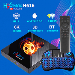 H96 MAX H616 TV Box android 10 4G 64GB 6K Android 2.4G 5.8G WIFIqhdtv neo pro iptv smart TV Box Google ensemble vocal LEMFO 2020