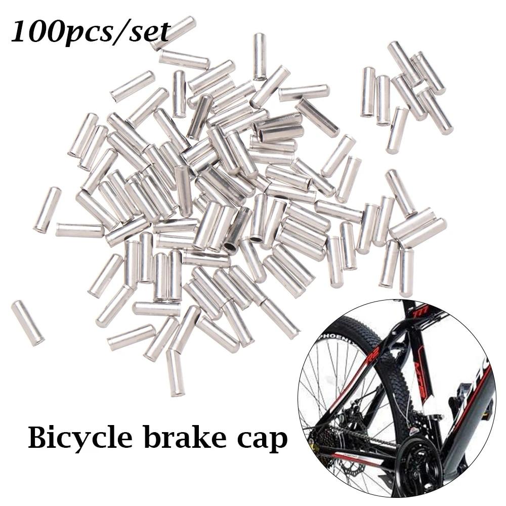 Dice Bicycle Cable End Crimps BLACK x 4