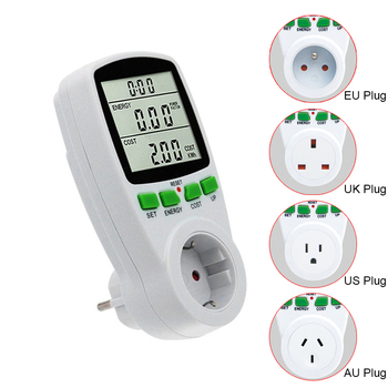 цена на LCD Digital Wattmeter Energy Meter watt Power Meter Wattage Electricity KWH Measuring Outlet Power Analyzer  EU US AU UK FR Plug