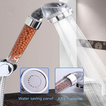 Bath Shower Adjustable Jetting Shower Head High Pressure Saving Water Bathroom Anion Filter Shower SPA Nozzle 1