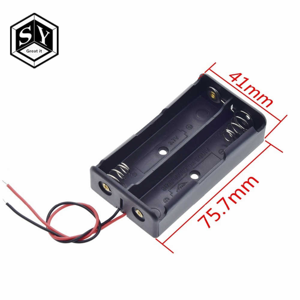 Plástico preto 1x2x3x4x18650 caixa de armazenamento da bateria caso 1 2 3 4 slot maneira diy baterias clipe titular recipiente com fio chumbo pino