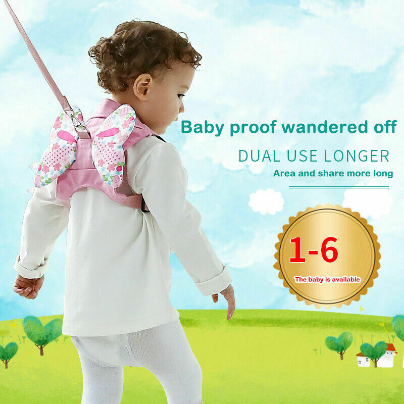 Children Kid Boy Girl Safety Harness Travel Wings Backpack Shoulder Bag Rucksack Activity Protective Baby Backpack Harness