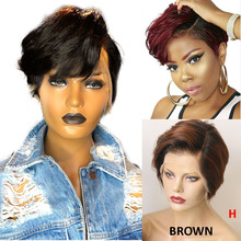 Hesperis Pixie Cut Wig Pre Plucked 13x6 Short Human Hair Wigs Brazilian Remy Short Bob 613 Lace Front Human Hair Wigs For Women