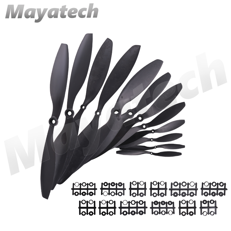 Hot New Arrival 1pair Gemfan Carbon Nylon CW/CCW Propeller Blades Prop for RC Quadcopter 8038 9047 1045 1147 1245 1447 image