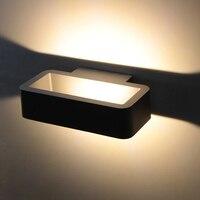 Aluminium nowoczesne na zewnątrz 5W led Wall światła bramy Blacony willa ogród ganek światła wodoodporna IP65 zewnątrz oświetlenie kinkiet w Zewnętrzne kinkiety LED od Lampy i oświetlenie na