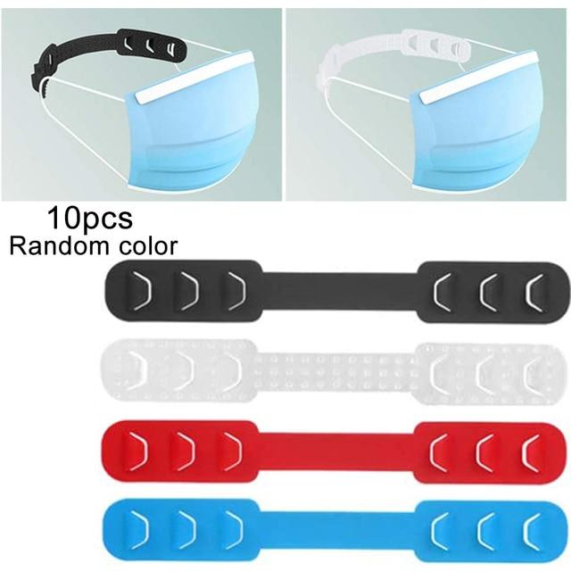10pcs Mask Hold Ear Maks Holder Adjustable Anti-slip Mask Ear Grips High Quality Extension Hook Face Masks Buckle Holder