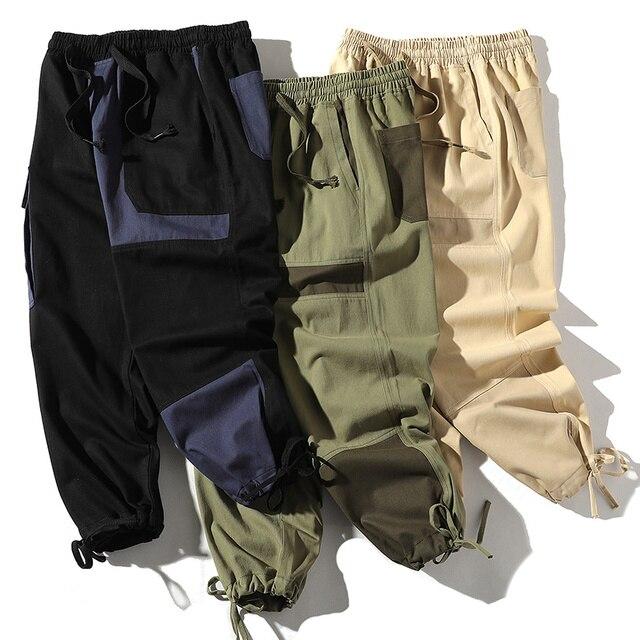 Купить уличная одежда с карманами в стиле хип хоп лентами брюки карго картинки