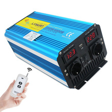 INVERTER a onda sinusoidale pura con controllo Wireless 3000W/6000W DC12V/24V a ca 220V-240V Display a tensione LED convertitore solare presa ue
