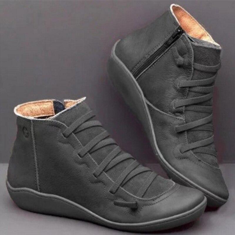 2019 herbst Schuhe Frauen Stiefel Weibliche Winter Stiefeletten Für Frauen Winter Stiefel Booties Ethnische Weicher Comfy Damen Schuhe Plus größe