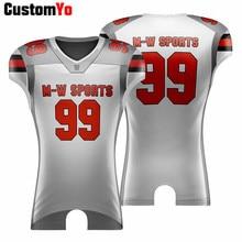 M-W, Спортивная, на заказ, для мужчин, женщин, детей, американский футбол, Джерси, YXS, AXL, размер, быстросохнущая, Спортивная, футбольная рубашка, Джерси