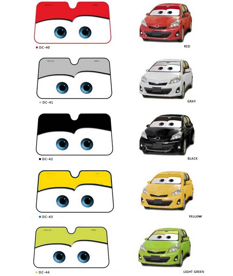 5 cor Olhos Bonitos Dos Desenhos Animados Do Carro Tampa Sun Sombra Sombrinha Auto Janela Windscreen Pára-Car covers Car Proteção Solar