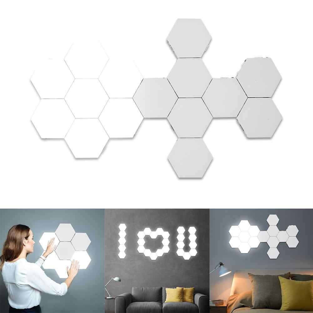 DIY LED Quantum Lamp Creative Magnetic Touch Sensitive Hexagonal Modular Lamp Night Light for Wall Wedding Party Decoration