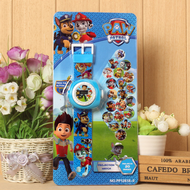 Paw Patrol Electronic Projection Watch Reloj Patrulla Canina Puppy Watch Patrol Children Birthday Partydecorations Gift 2