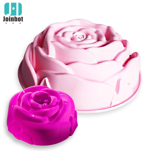 1 pc big size  love rose flower silicone cake baking mold  moldes de silicona para fondant  kichen accessories  decoration