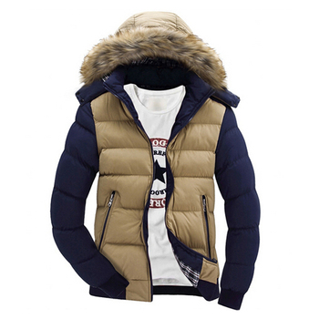 Men's Winter Thick Hooded Fur Collar Parka Men Coats Casual Padded Mens Jackets Male Clothing 6XL 7XL J6T748