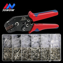 2.8/4.8/6.3mm Universal Spring Plug Electrical Wire Connectors Insulated Seal Crimping Terminals Spade Crimp Terminals Connector