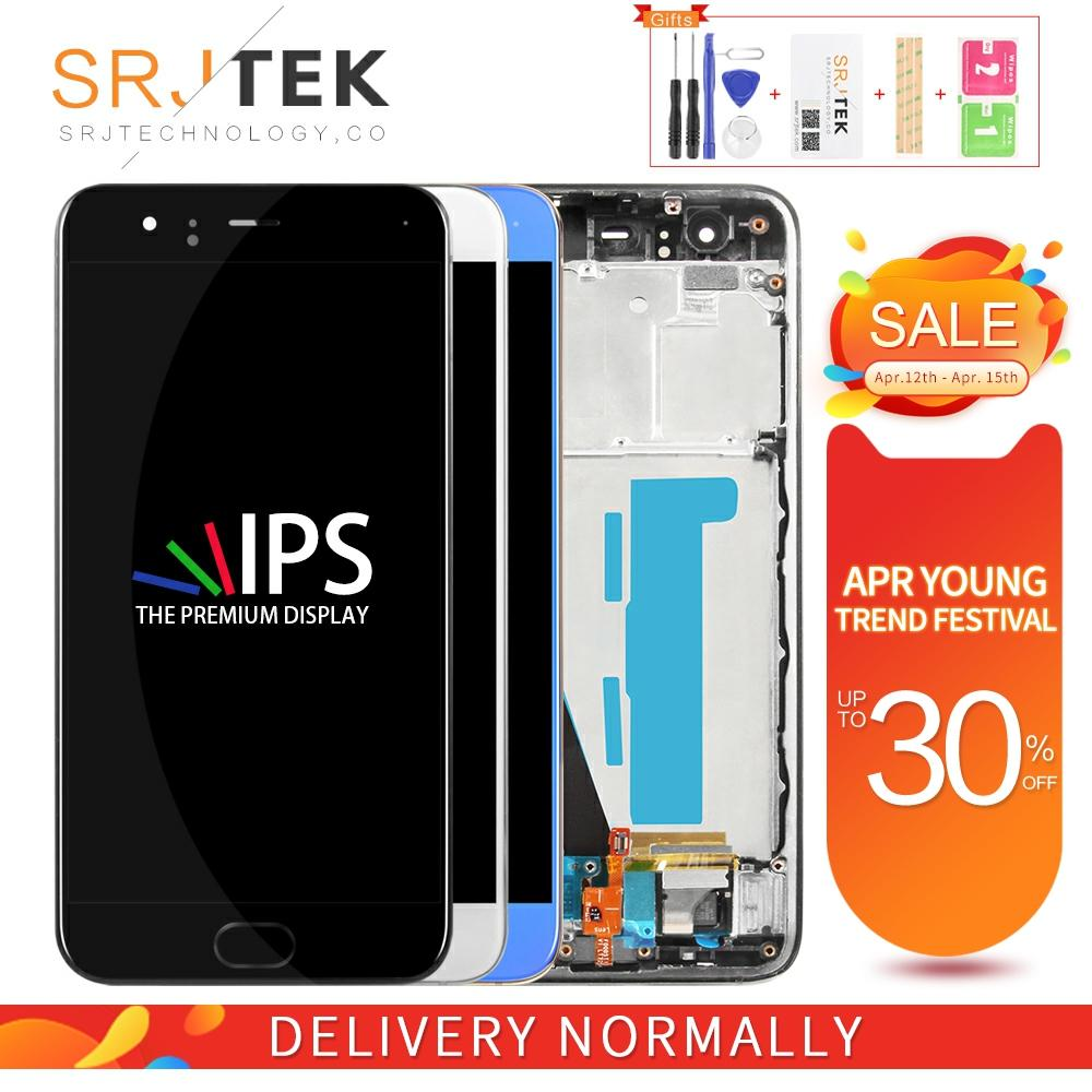 IPS Srjtek For XIAOMI Mi 6 LCD MI6 Display Matrix Touch M6 Screen Digitizer Full Assembly With Frame With Fingerprint Touch ID