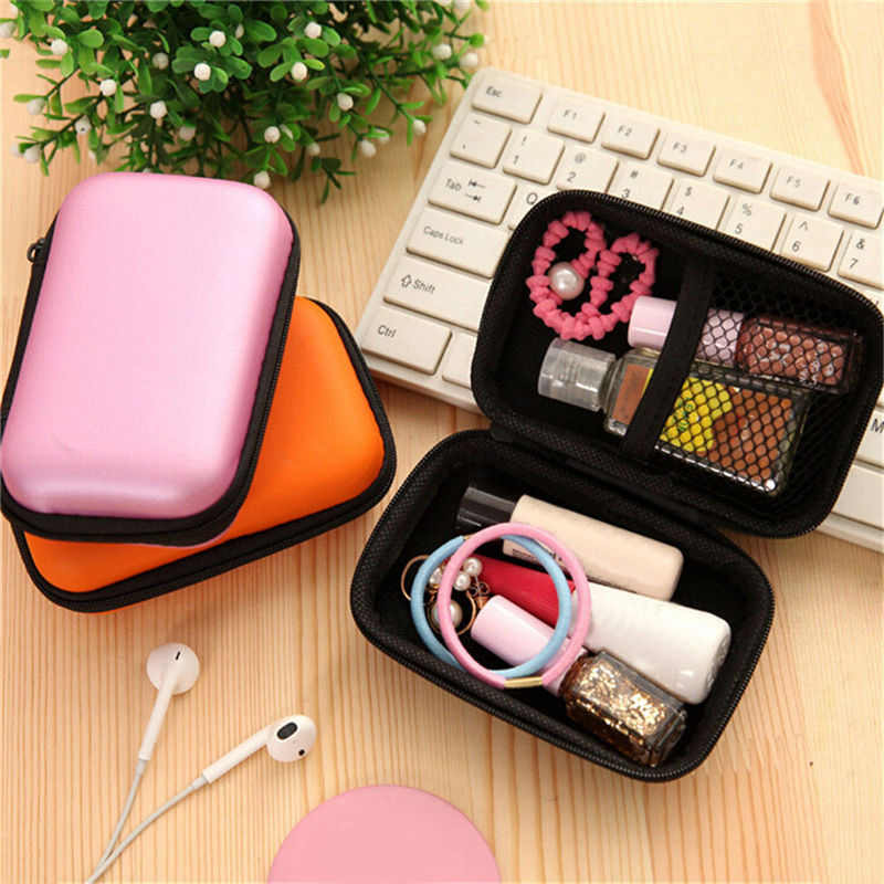 1 Pc Portable Mini Earphone Storage Bag Cable Organizer Pouch Digital USB Organizer Coin Purse Travel Accessories Drop Shipping