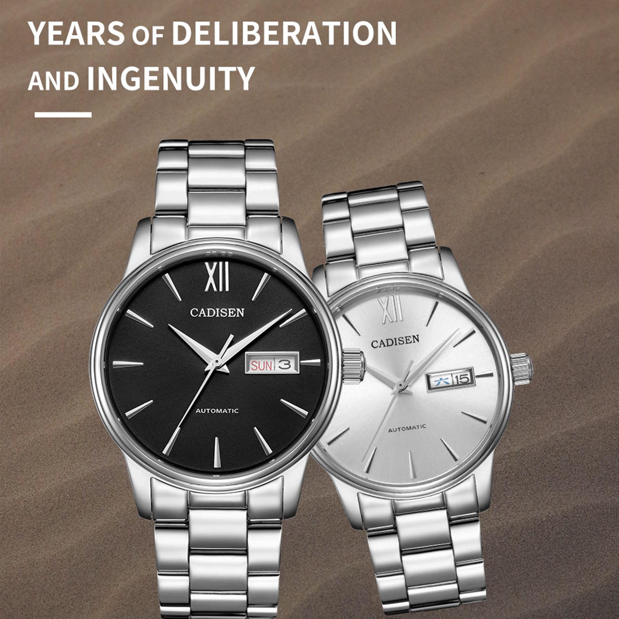 H29938819beda47c1ad5dd71cc4fe9cedA CADISEN Men Watch Automatic Mechanical Watches Role Date Week Top Luxury Brand Japan NH36A Wrist watch Clock Relogio Masculino